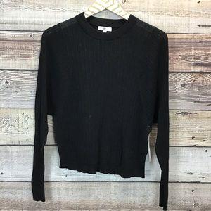 BP Long Sleeve Knit Top Black XS NWT 0651